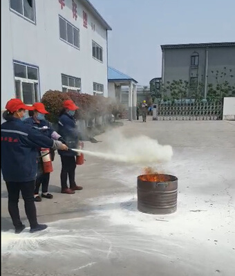 fire drill from PE sheet factory
